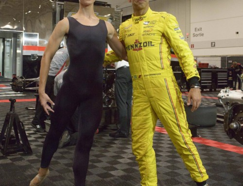 Helio Castroneves 'On Pointe' Both On & Off The Track